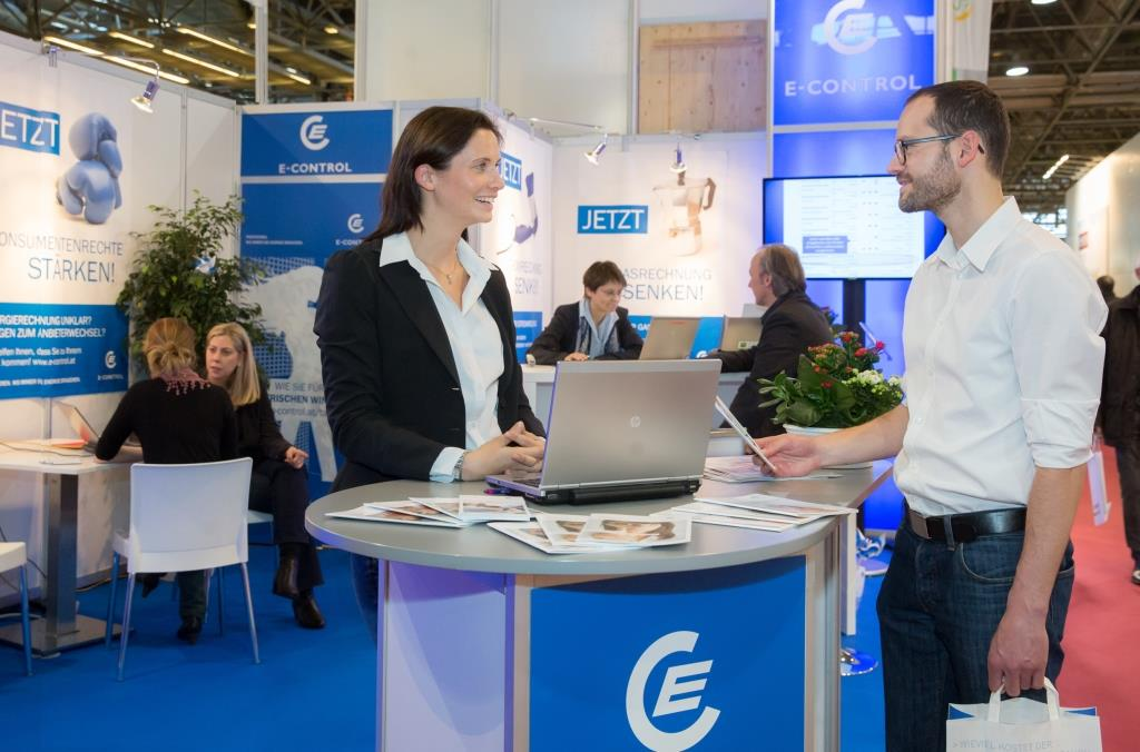 E-Control's presence at the Bauen + Energie trade fair in Vienna in 2016